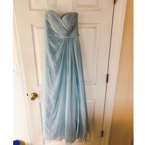Azazie Blue Strapless Dress
